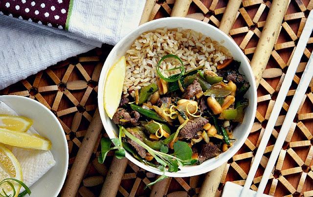 Thai Beef Stir-Fry over Brown Rice
