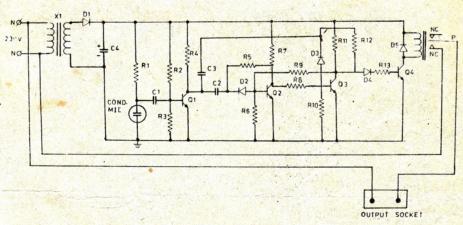 Snap Clap On Off Switch Circuit Diagram Using 555 Timer Ic Transistor Simple Efcaviationcom