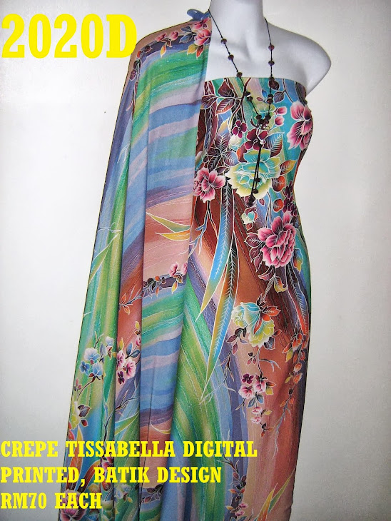 CTD 2020D: BATIK CREPE TISSABELLA DIGITAL PRINTED, EXCLUSIVE DESIGN, 4 METER