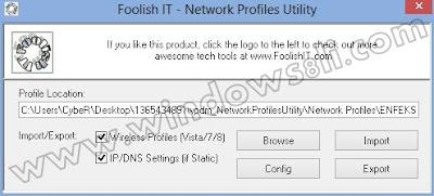Network Profiles Utility
