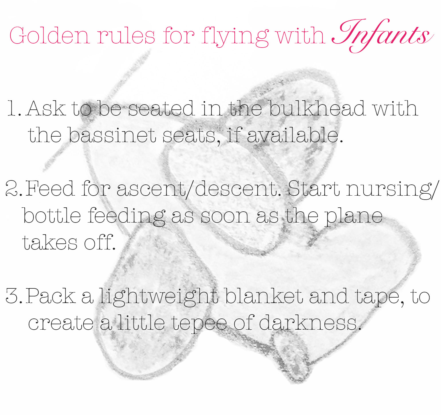 meg-made golden rules for flying with infants
