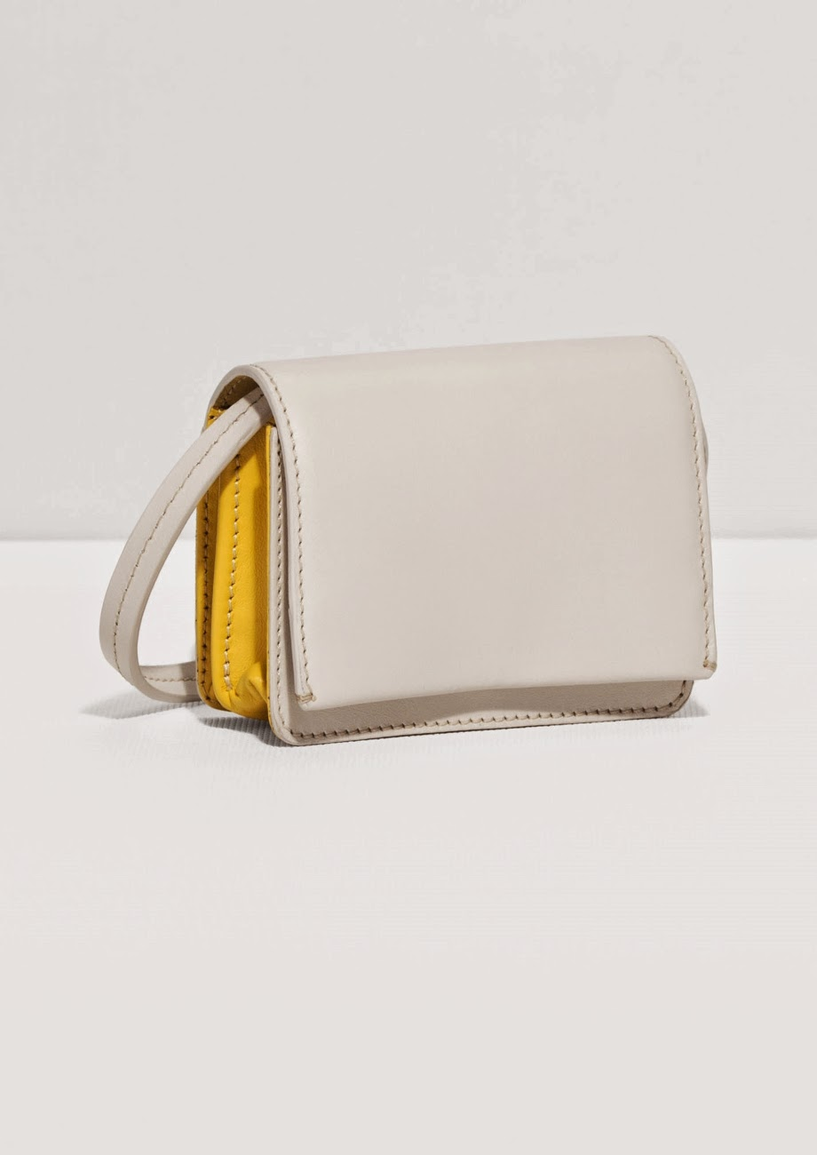 cream yellow handbag