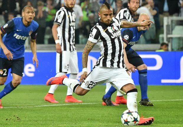 Juventus - Monaco 1-0 Calcio di rigore Arturo Vidal