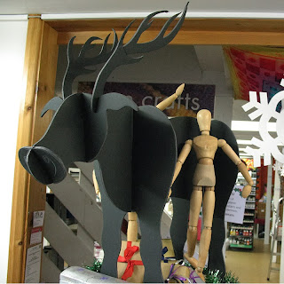 Christmas Reindeer made from foamboard by Philippa Cousins