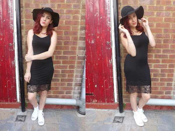 What Cat Wore: Lacy Black Dress