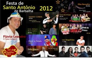 BARBALHA-CE: Programação da Festa de Santo Antônio 2012