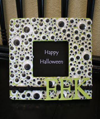 Murphys Law Halloween Crafts Googly Eyed Picture Frame
