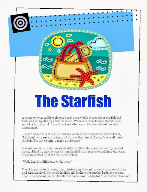 Are you a thrower of starfish the middle school counselor for Star fish story