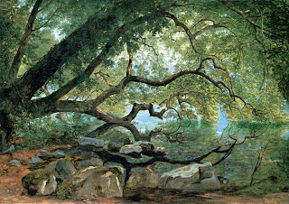 Encina en el lago Albano, Italia, 1846, por John F. Kensett