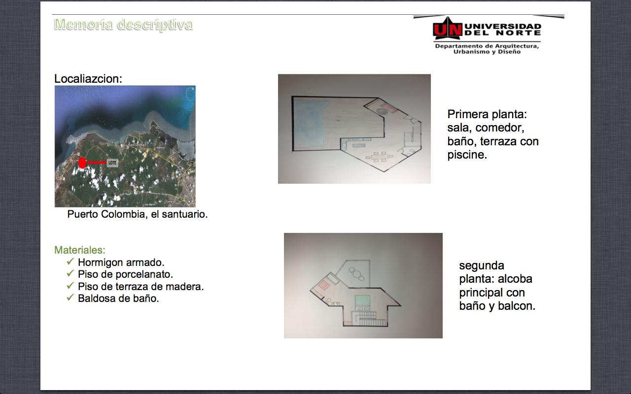 Arquitectura memoria descriptiva for Memoria descriptiva arquitectura