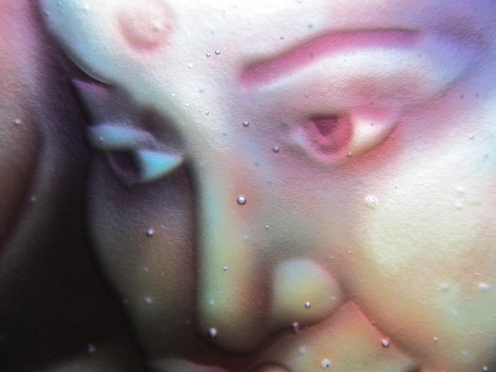 Pískované sklo - portrét