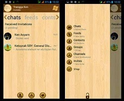 BBM Mod Windows Phone Theme Apk 2.8 Style WP Wood