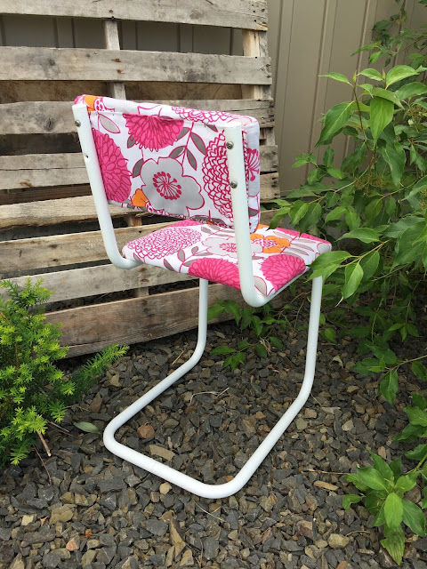 Back of Metal Chair Upholstery
