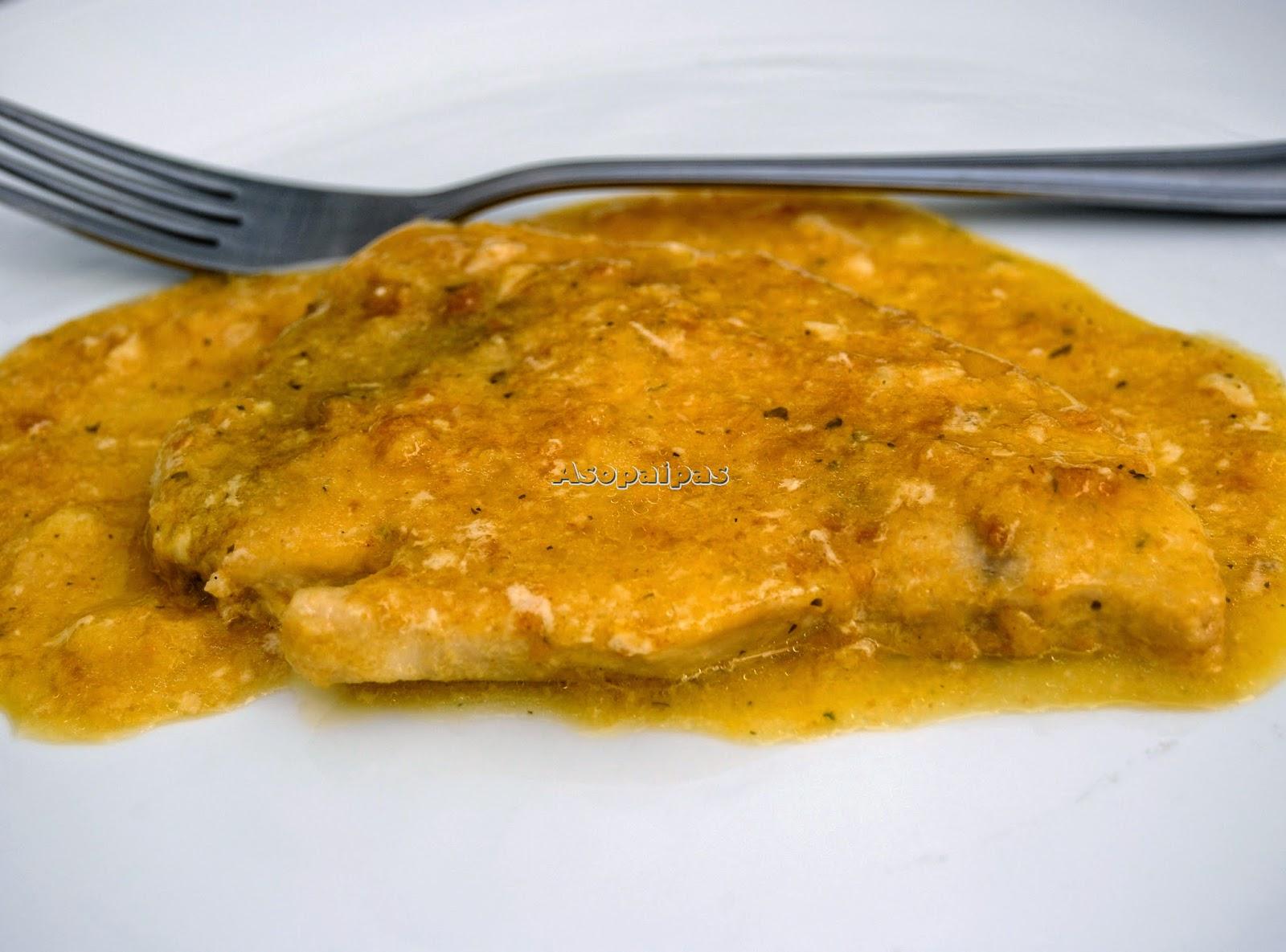 Pez espada con salsa de azafr n receta asopaipas for Pez espada en salsa de almendras