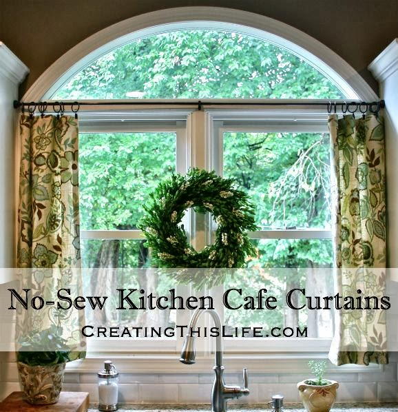 No-Sew Kitchen Cafe Curtains