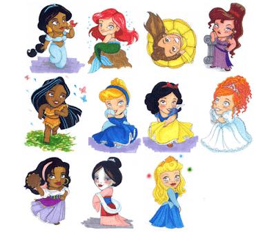 Más pequeñas princesas disney bebes