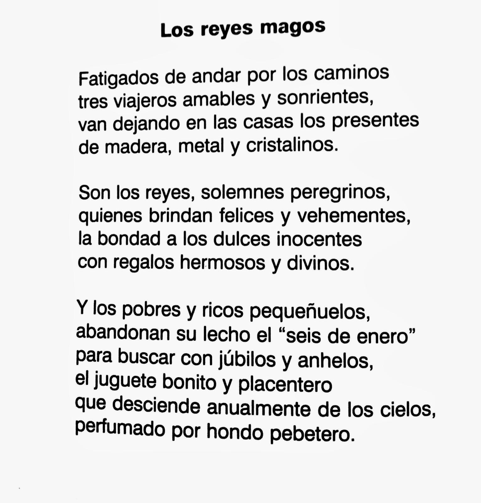 Poesía a los Reyes Magos