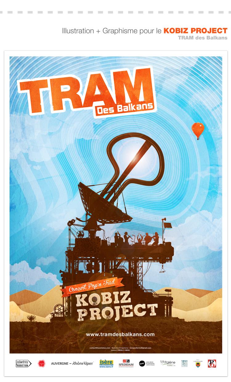 Tram des Balkans Affiche concert