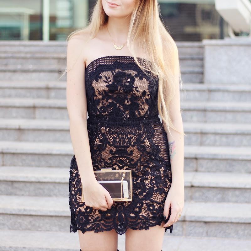 Vestido rendado