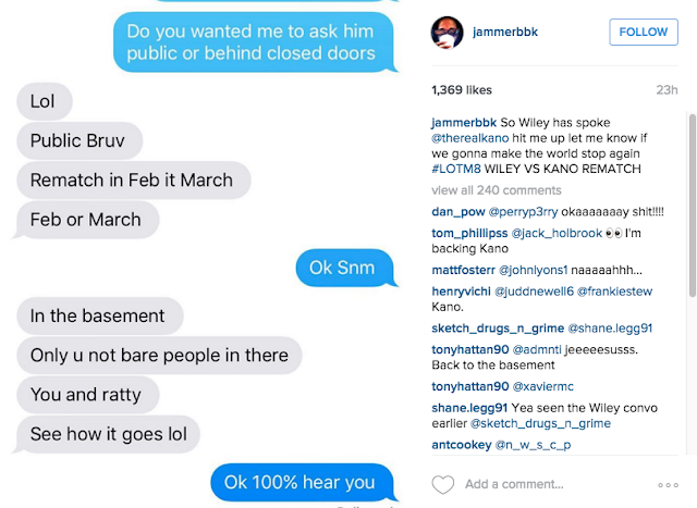 Wiley's texts to Jammer to clash Kano at LOTM 8