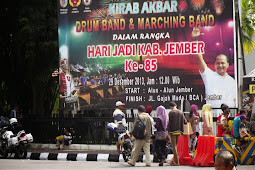 HUT Jember - Kirab Akbar Drum Band dan Marching Band