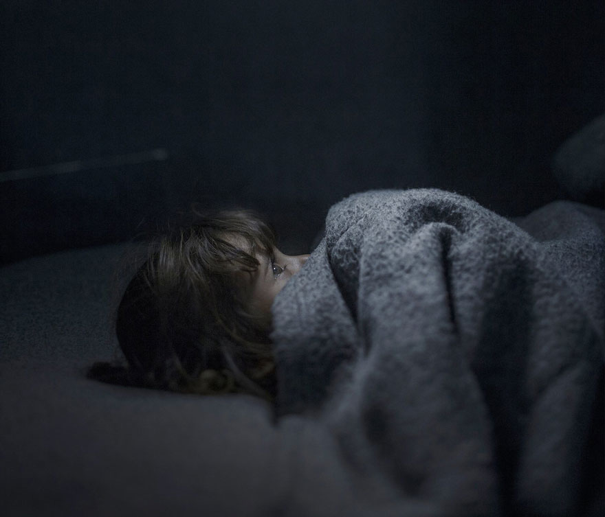 Photographer Reveals The Heartbreaking Places Syrian Refugee Children Sleep - Fara, 2 years old, Azraq