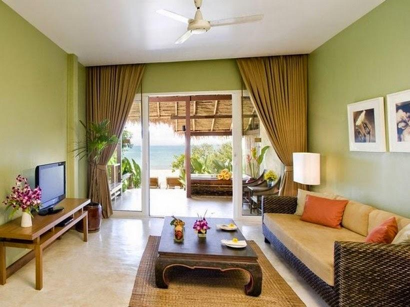 Simple Living Room Ceiling Fan Idea