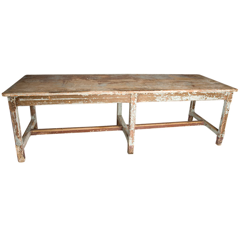 Long narrow farm table furnitureplans Narrow farmhouse table plans