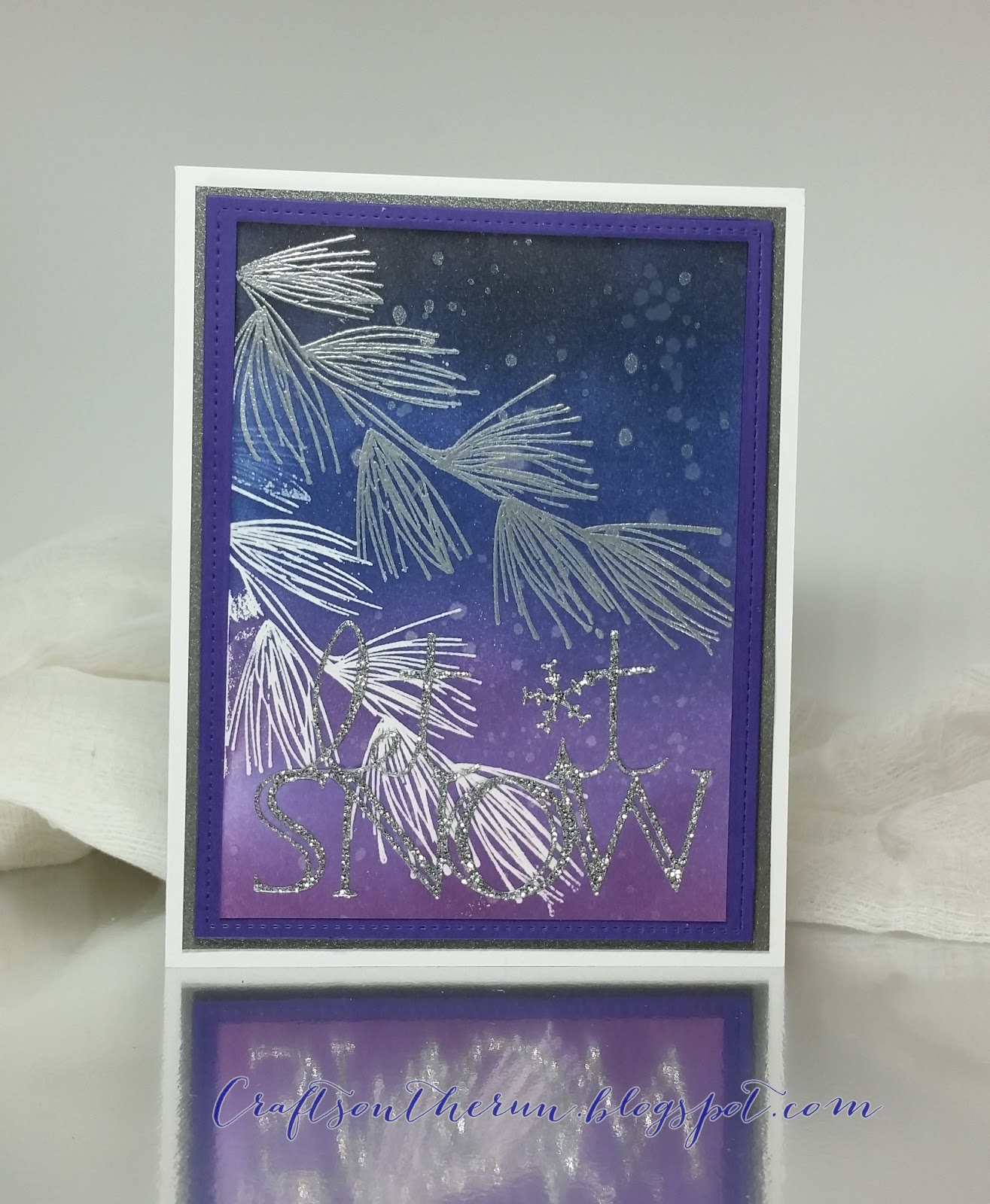 Hero Arts Pine Bough, Christmas card