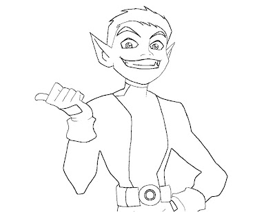 #8 Beast Boy Coloring Page