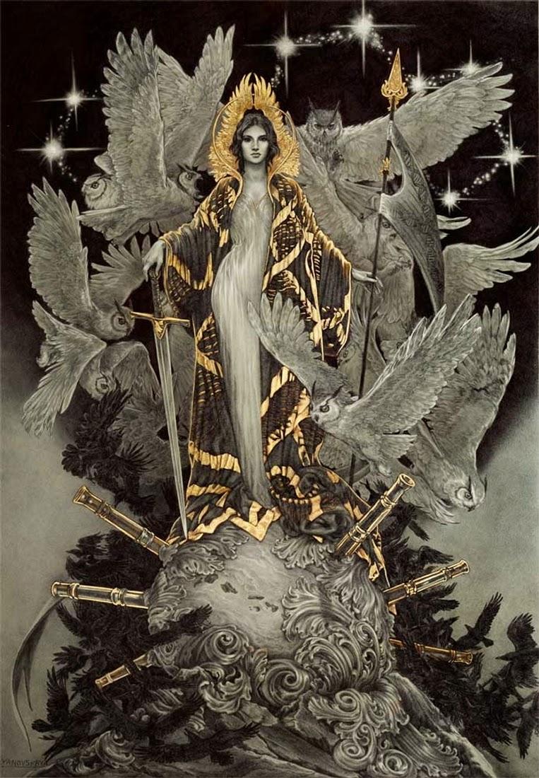 03-Wisdom-Rebecca-Yanovskaya-Ballpoint-Pen-and-Gold-Leaf-Drawings-www-designstack-co