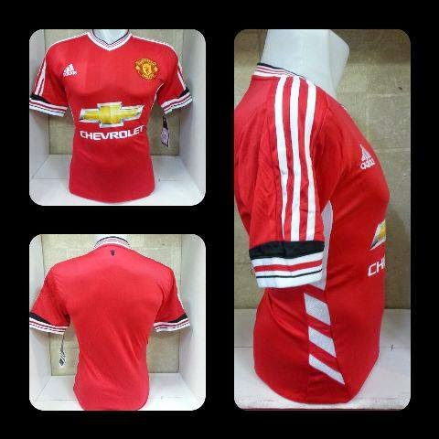 bocoran gambar jersey manchester united home adidas leaked 2015/2016