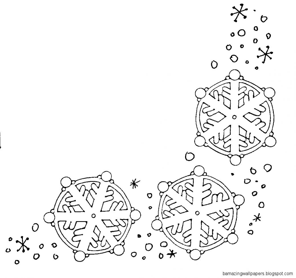 Best Black And White Snowflake 24386