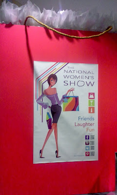 The National Women's Show 2013 logo on large shopping bag