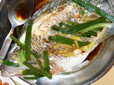 Steamed Fish with Tofu and Chilli Sauce