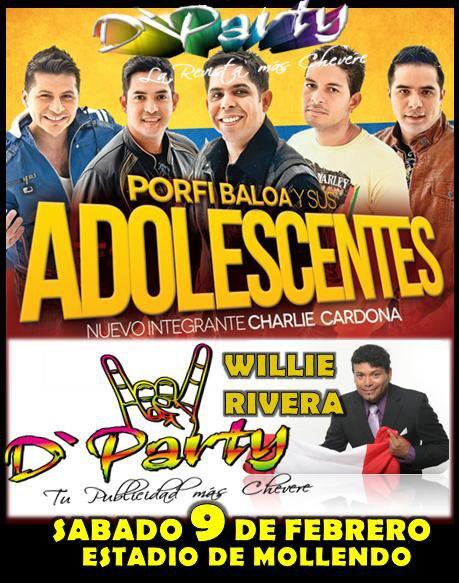 Los adolescentes y Willie Rivera en Mollendo (9 feb)