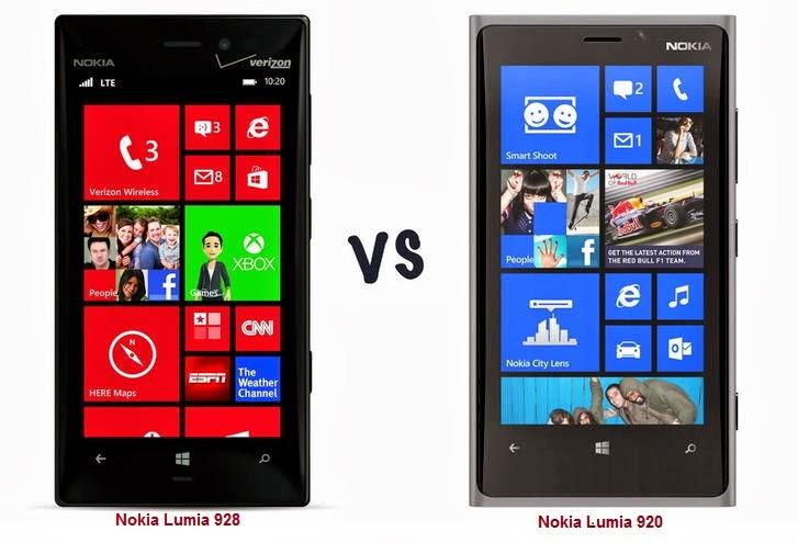 نوكيا لوميا 920 مقابل نوكيا لوميا 928