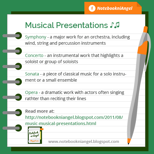 Types of Musical Presentations