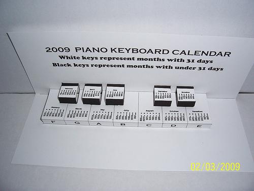picture relating to Printable Piano Keys known as Jelias Tunes Playground: Piano Keys 2013 Calendar Printable