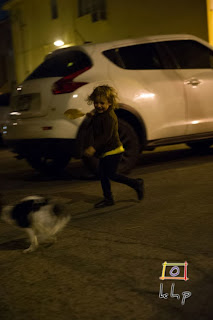 Running with puppies in an alley in the Valley.