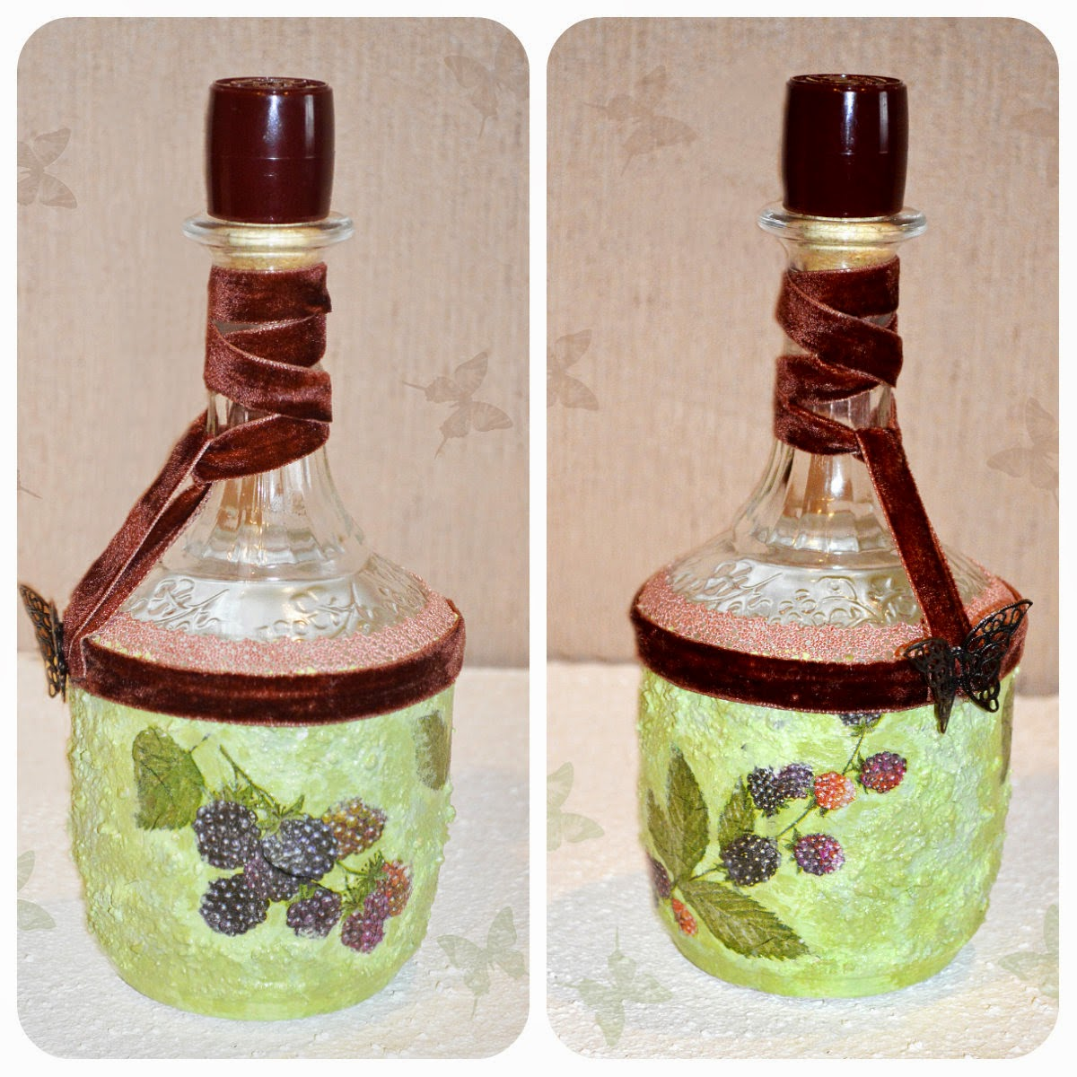 декорирование бутылок в подарок