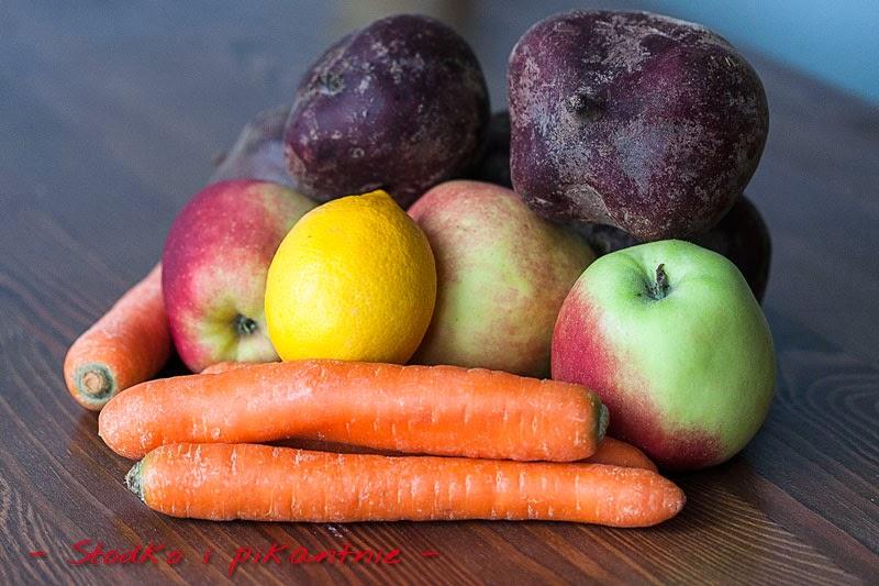 Warzywa i owoce na sok