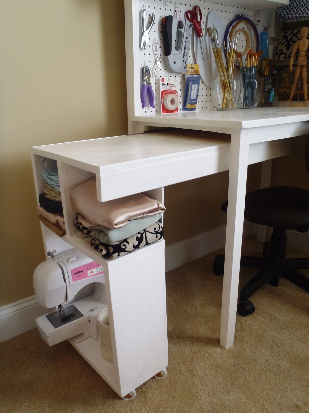 Arts and craft table -  Or For The Sewing Machine How To Build This Arts And Crafts Table