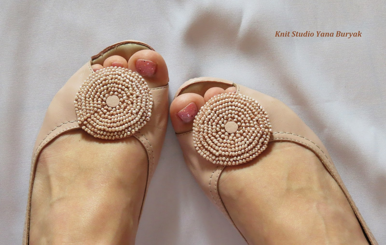 Брошки на туфли своими руками