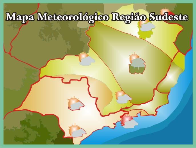 Mapa Meteorológico da Região Sudeste
