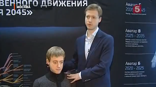 Dmitry Itskov and his robotic avatar