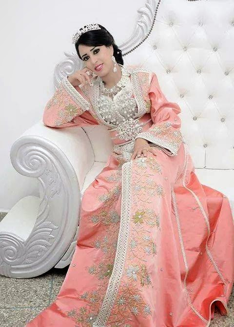 caftan mariage rose