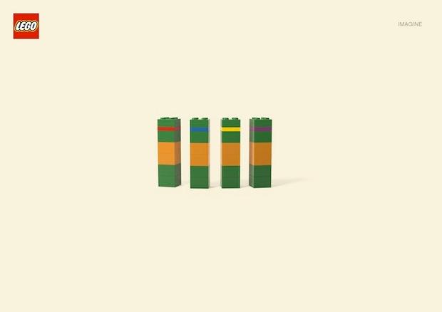 Nueva campaña Lego Jung Von Matt. Tortugas Ninja
