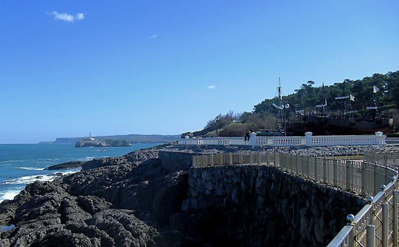 Costa de la Peninsula de la Magdalena en Santander