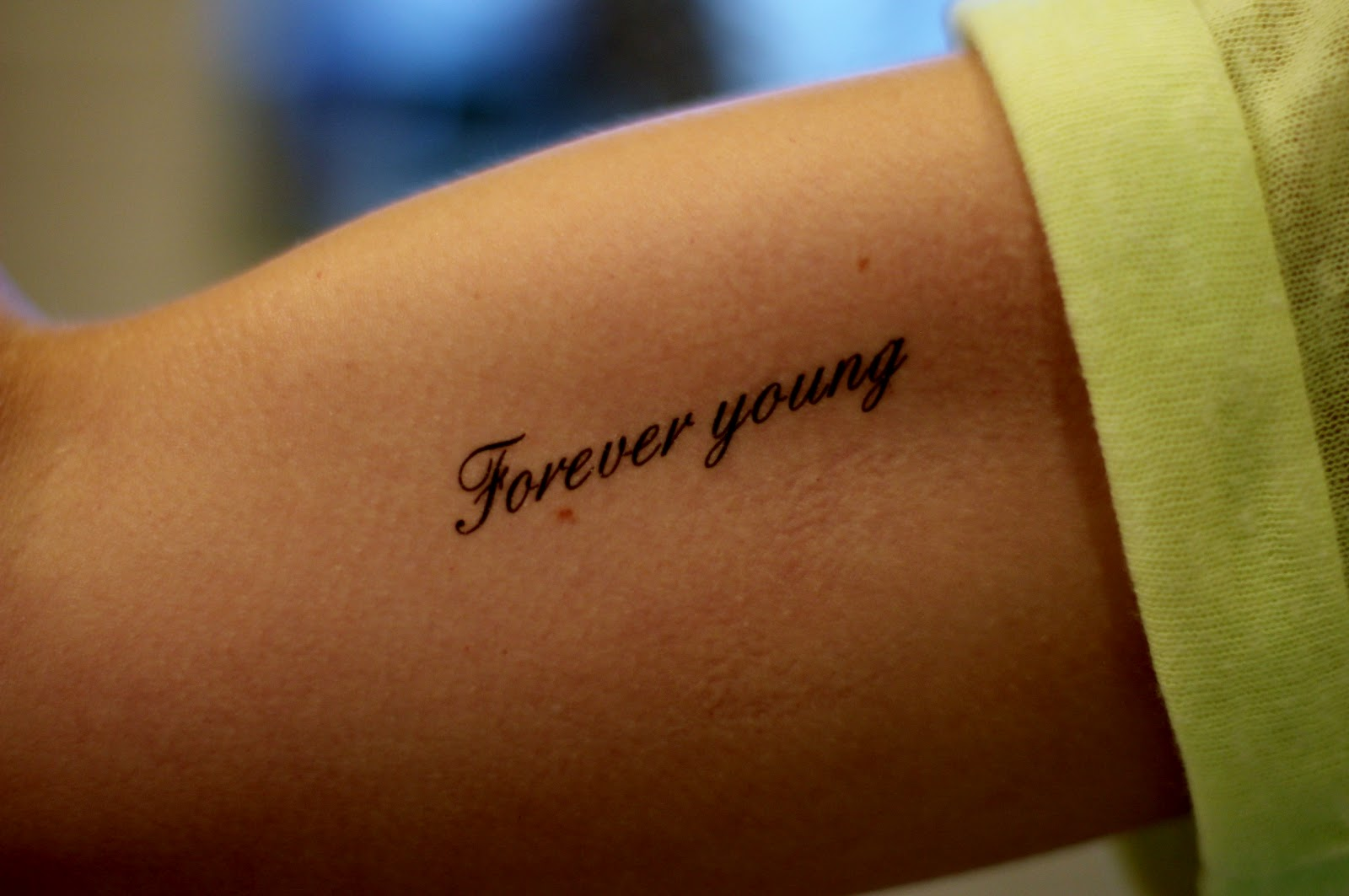 Keep smiling disappointment friendship love 14 as for Forever young in japanese tattoo